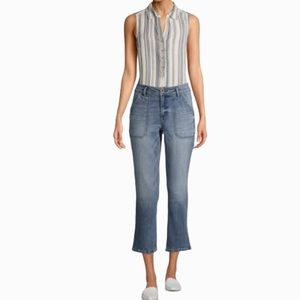 NWT UTILITY JEANS BY TIME AND TRU SIZE 6
